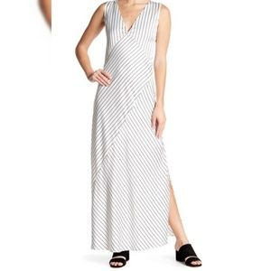 NWT Theory Crushed Satin Slip Dress Maxi Sz 10